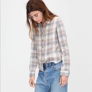 Ugg Gray Crisscross Woven Shirt